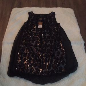 cheetah silk and polyester with see through